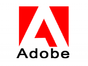 A red colored Adobe company logo