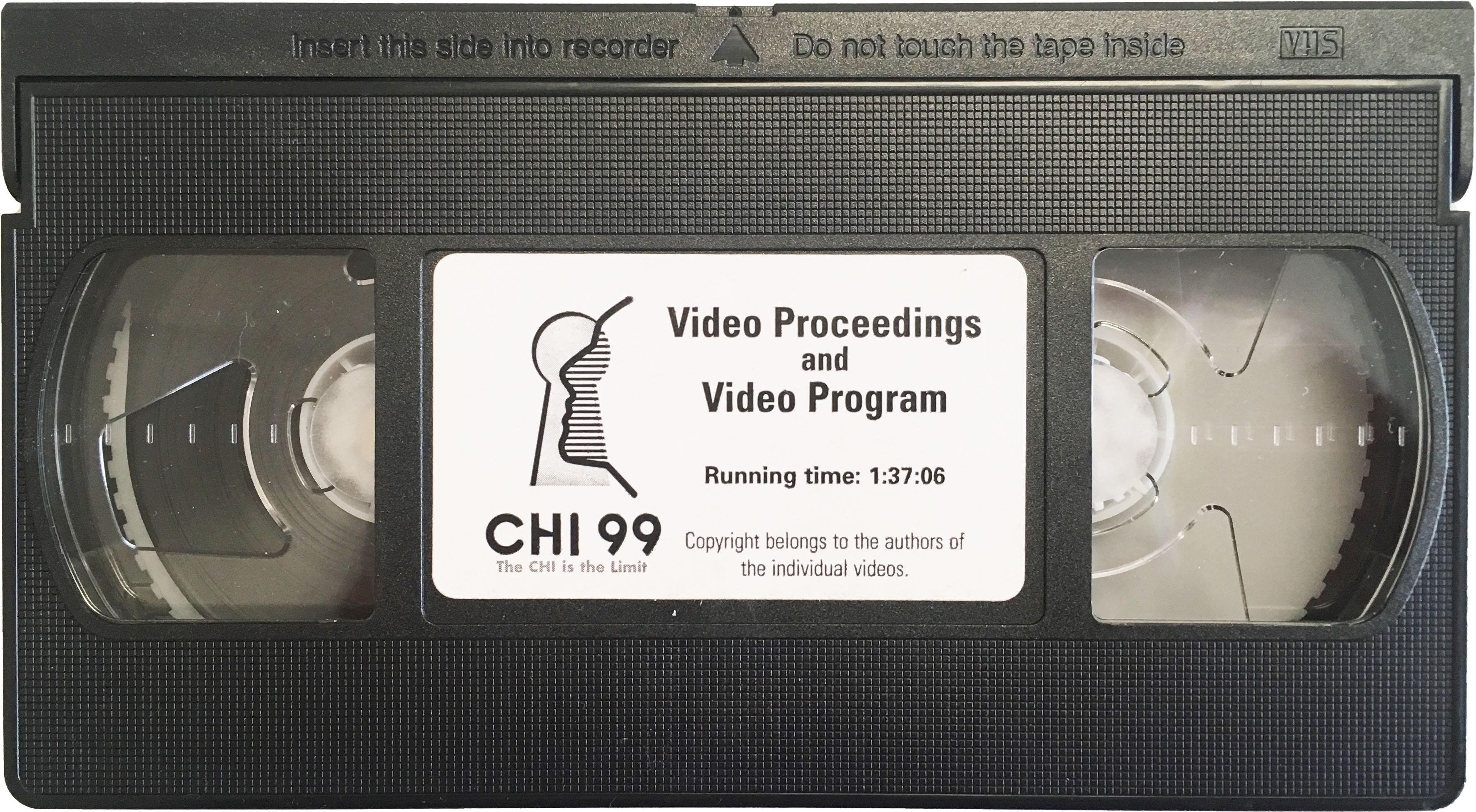A video tape cassette (analog). This was a norm in 1990's before the advent of digital technology.