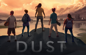 An image of the logo for DUST, which leads to the game's homepage.